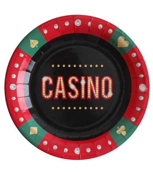 """Pappteller """"Casino"""" - 10 Stück"""