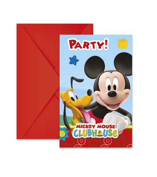 """Einladungskarten """"Micky Maus Wunderhaus"""" - 6 Stück"""