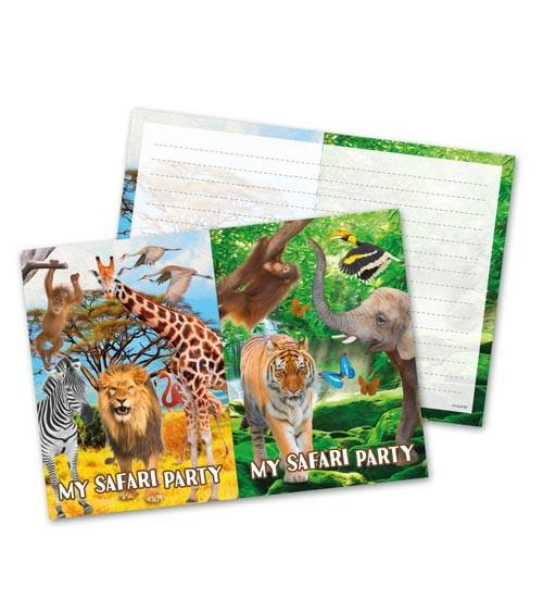 """Einladungskarten """"Safari-Party"""" - 8 Stück"""