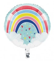 "Runder Folienballon ""Over the Rainbow"" - 45 cm"