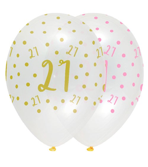 "Luftballon-Set ""Rosa Party"" - 21. Geburtstag - 6 Stück"