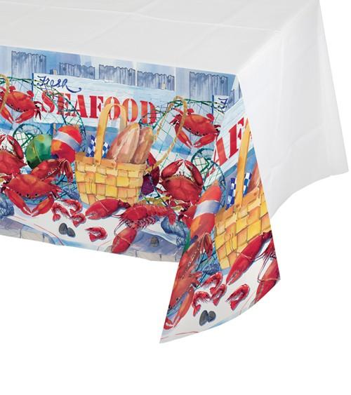 "Kunststoff-Tischdecke ""Seafood"" - 137 x 259 cm"