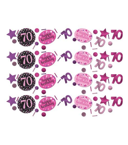 """Konfetti """"Sparkling Pink"""" - 70. Geburtstag - 34 g"""