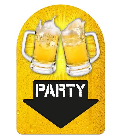 "3D-Wanddeko ""Bier-Party"" - 38 x 58 cm"