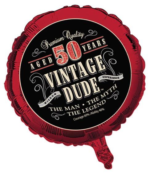 """Folienballon """"Vintage Dude - 50. Geburtstag"""""""