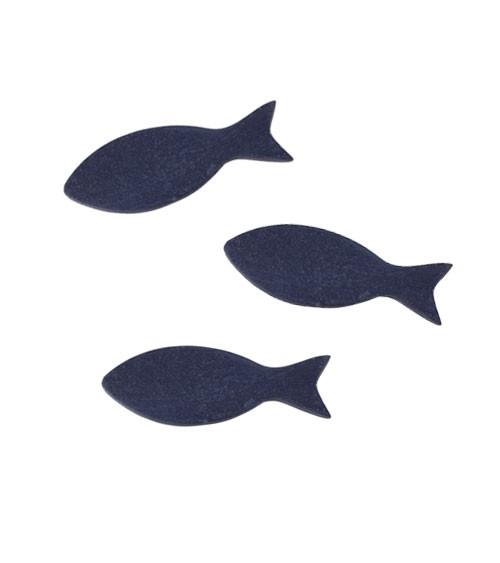 "Streuteile aus Holz ""Fisch"" - dunkelblau - 5 cm - 15 Stück"