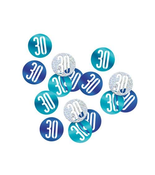 """Streukonfetti """"30"""" - blau - 14 g"""