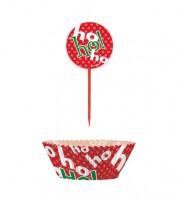 "Cupcake-Kit ""ho ho ho!"" - 48-teilig"