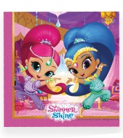 "Servietten ""Shimmer & Shine - Glitter Friends"" - 20 Stück"