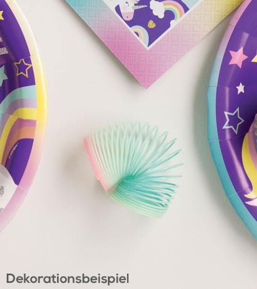 Mini-Regenbogen-Springspiralen - 8 Stück