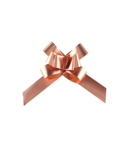 Mini-Ziehschleifen - metallic rosegold - 20 Stück