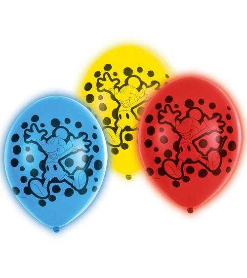 "LED-Luftballon-Set ""Mickey Mouse"" - bunt - 27,5 cm - 5 Stück"