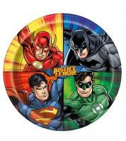 """Pappteller """"Justice League"""" - 8 Stück"""