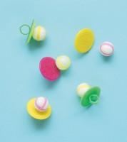 Ringe mit Klettbällen - 5 Stück
