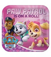 "Pappteller ""Paw Patrol Pink"" - 8 Stück"