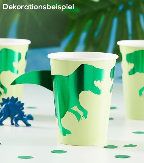 "Pappbecher ""Dinosaurier Party"" - 8 Stück"