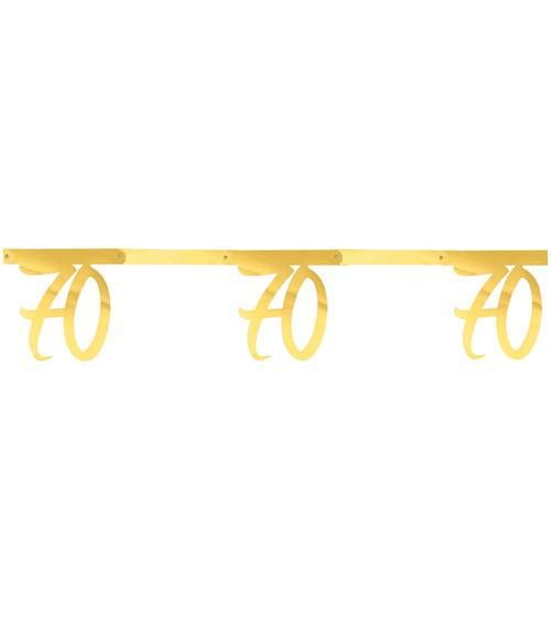 """Zahlengirlande aus Papier """"70"""" - metallic gold - 2,5 m"""