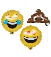 "Photobooth-Folienballons ""Emoticons"" - 3 Stück"