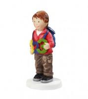 """Deko-Figur """"Junge mit Zahlen"""" - 4,5 x 8,5 cm"""