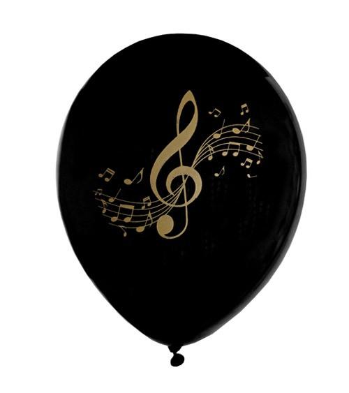 """Luftballons """"Musik-Noten"""" - 8 Stück"""