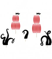 """Cupcake-Topper """"Pirates Party"""" - 5-teilig"""