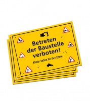 """Platz-Sets """"Achtung Baustelle"""" - 6 Stück"""