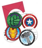 "Einladungskarten ""Mighty Avengers"" -  6 Stück"