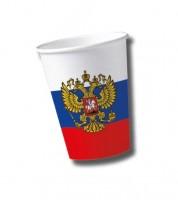 """Pappbecher """"Russland"""" - 10 Stück"""