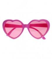 Herz-Sonnenbrille - rosa