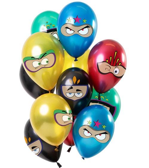 """Metallic-Luftballon-Set """"Superheroes"""" - Farbmix - 12-teilig"""