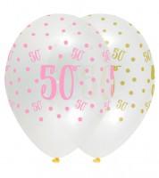 "Luftballon-Set ""Rosa Party"" - 50. Geburtstag - 6 Stück"