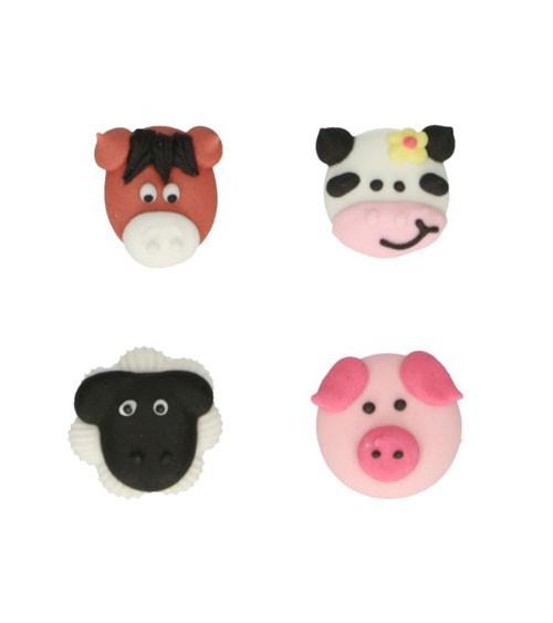 """Funcakes Zuckerdekore """"Bauernhoftiere"""" - 8 Stück"""