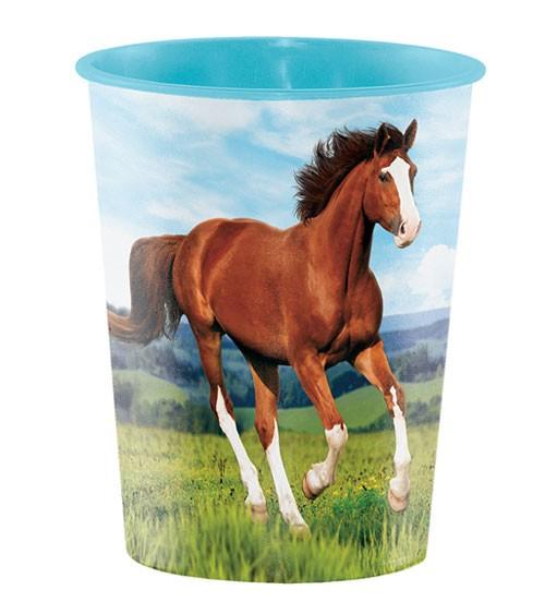 "Plastikbecher ""Pferde"""