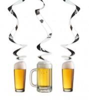 """Spiralgirlanden """"Bier-Party"""" - 3 Stück"""