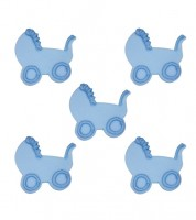 """Zuckerdekor """"Kinderwagen"""" - hellblau - 5 Stück"""