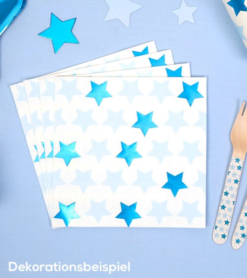 """Servietten """"Little Star Blue"""" - 16 Stück"""