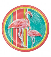"Pappteller ""Flamingo Oase"" - 8 Stück"