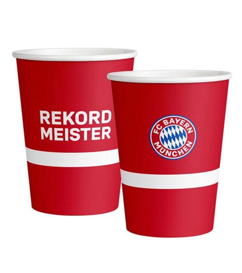 """Pappbecher """"FC Bayern München"""" - 8 Stück"""