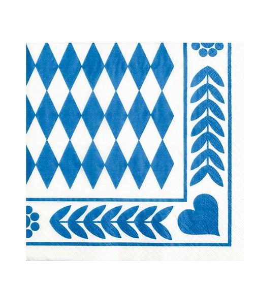 """Servietten """"Bayrisch Blau"""" - 20 Stück"""