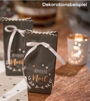 "Gastgeschenkboxen ""Joyeux Noel"" - anthrazit - 6 Stück"