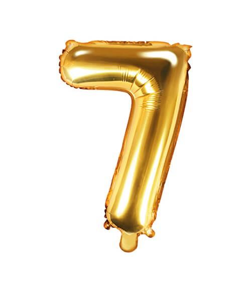 "Folienballon Zahl ""7"" - gold - 35 cm"