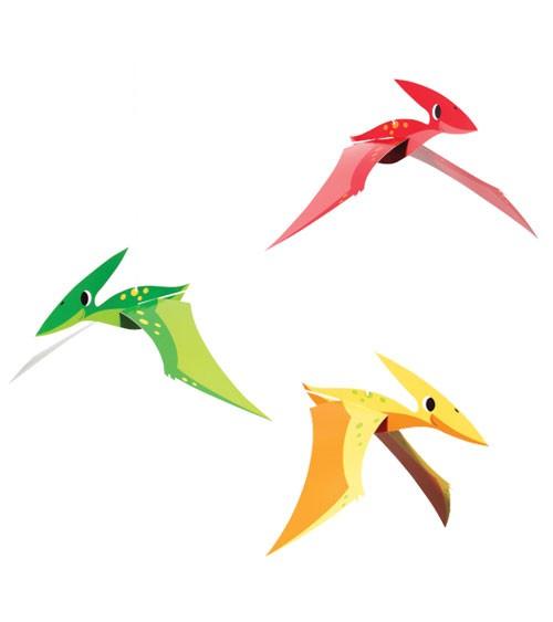 """3D-Hängedeko """"Lustige Dinos"""" - 3-teilig"""