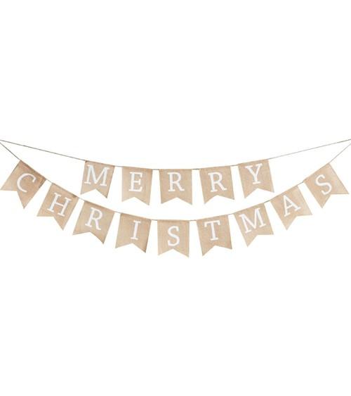 """Jute-Girlande """"Merry Christmas"""" - 2-teilig"""