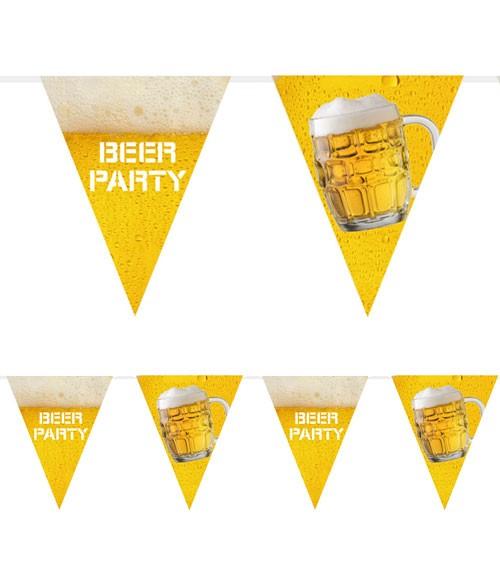 "Wimpelgirlande aus Kunststoff ""Beer-Party"" - 6 m"