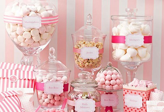 Candy Bar Sweet Table Zubehor