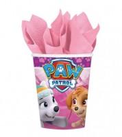"""Pappbecher """"Paw Patrol Pink"""" - 8 Stück"""