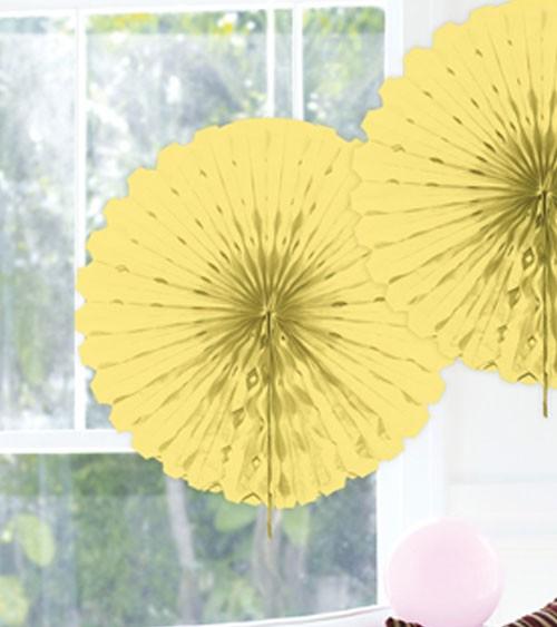 Papier-Deko-Fächer - 45 cm - hellgelb