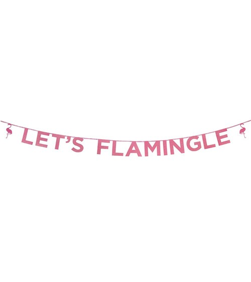 "Glitter-Girlande ""Let's Flamingle"" - 3 m"
