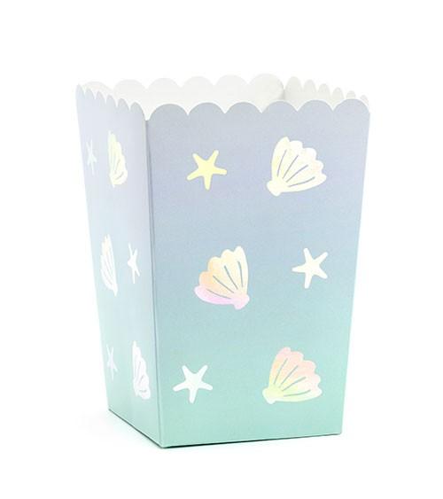 """Popcornboxen """"Muscheln und Seesterne"""" - 6 Stück"""