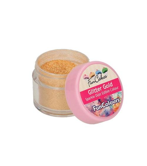 Funcakes Lebensmittelfarbe Pulver - glitter gold - 3,5 g